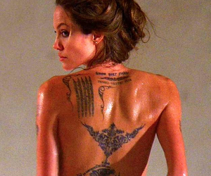 actress, angelina, and Tattoos image