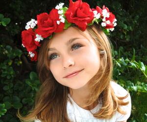 flowers, flower crown, and kids image