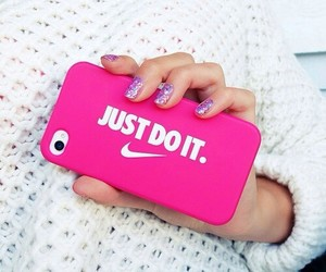 nike, pink, and Just Do It image