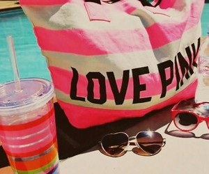pink, summer, and pool image