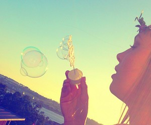 america, bubbles, and summer image