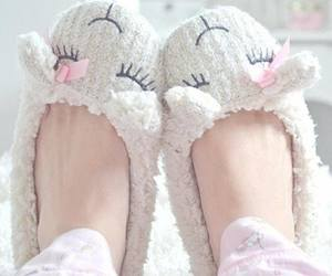 cute, slippers, and sheep image