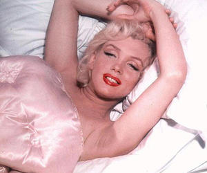 Marilyn Monroe and satin image