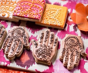food, want, and henna image