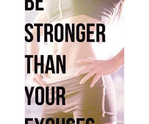 excuses, fit, and fitness image