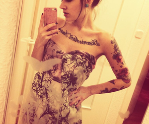 Sunday, girls with tattoos, and inked girls image