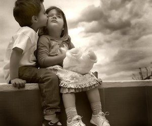 love, kiss, and kids image