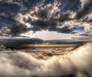 clouds, hdr, and photograph image