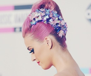 katy perry, hair, and pink image
