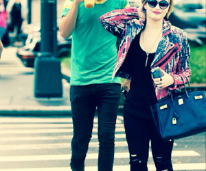 couple, hipster, and pink image