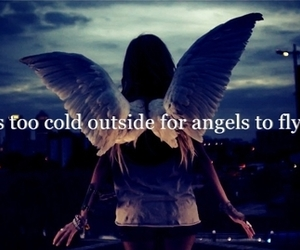 angel, fly, and quote image