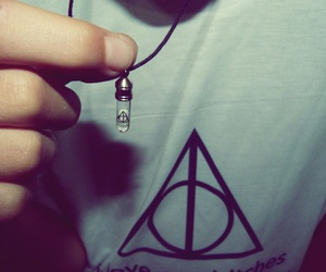 boy, collar, and deathly hallows image