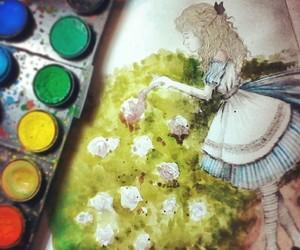 alice, aquarela, and art image