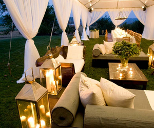 garden party, relax, and lights image