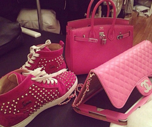 fashion, pink, and hermes image