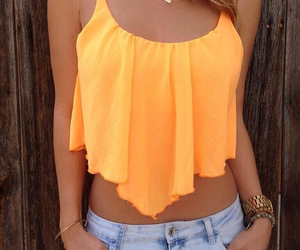 fashion, summer, and orange image
