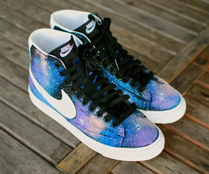 galaxy, shoes, and nike image