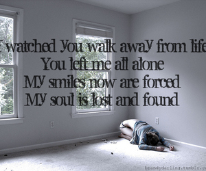 alone, forced, and smiles image