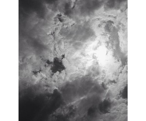 b&w, beautiful, and clouds image