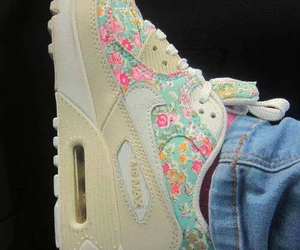 nike, flowers, and air max image