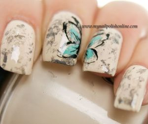 butterfly, nails, and beautiful image