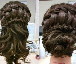 braid, updo, and diy image