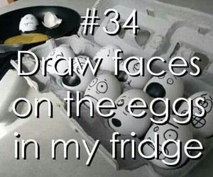 draw, eggs, and faces image