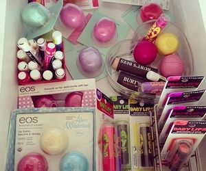 eos, baby lips, and lips image
