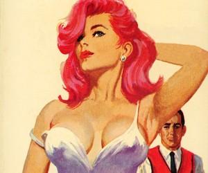 woman and pinup image