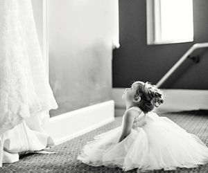 wedding, dress, and baby image