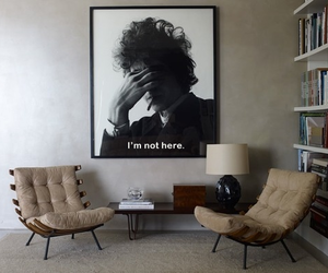 bob dylan, room, and books image