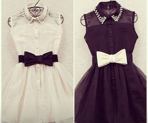 black and white, dresses, and cute image