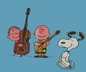 charlie brown, illustration, and music image