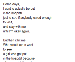 sad, hospital, and quote image