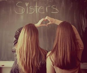 sisters, friends, and girls image