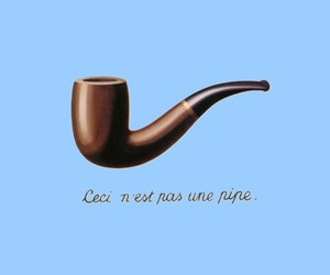 books, ceci nest pas une pipe, and john green image