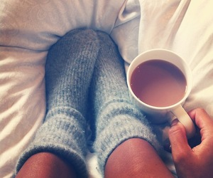 coffee, socks, and relax image