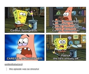 funny, spongebob, and tumblr image