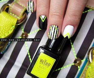 amazing, black and white, and nail art image