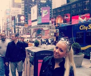 blonde, new york, and times square image