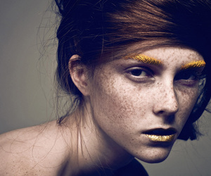 girl, fashion, and freckles image