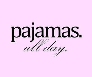 pajamas, pink, and love image
