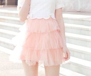 pink, cute, and skirt image