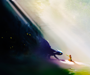 dreamworks, toothless, and how to train your dragon image
