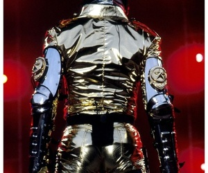 attractive, gold pants, and mjj image