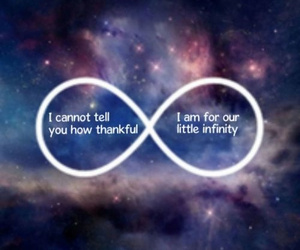 galaxy, infinity, and quote image