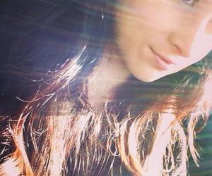 brunette, smile, and sunshine image