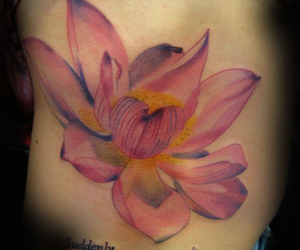 "lotus tattoo, custom tattoo, and ""adorn body art"" image"