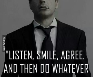 quotes, smile, and listen image