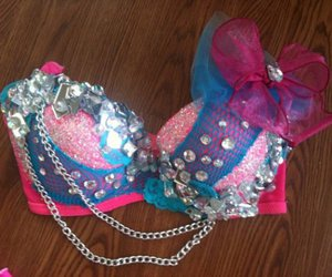 bra, bow, and pink image